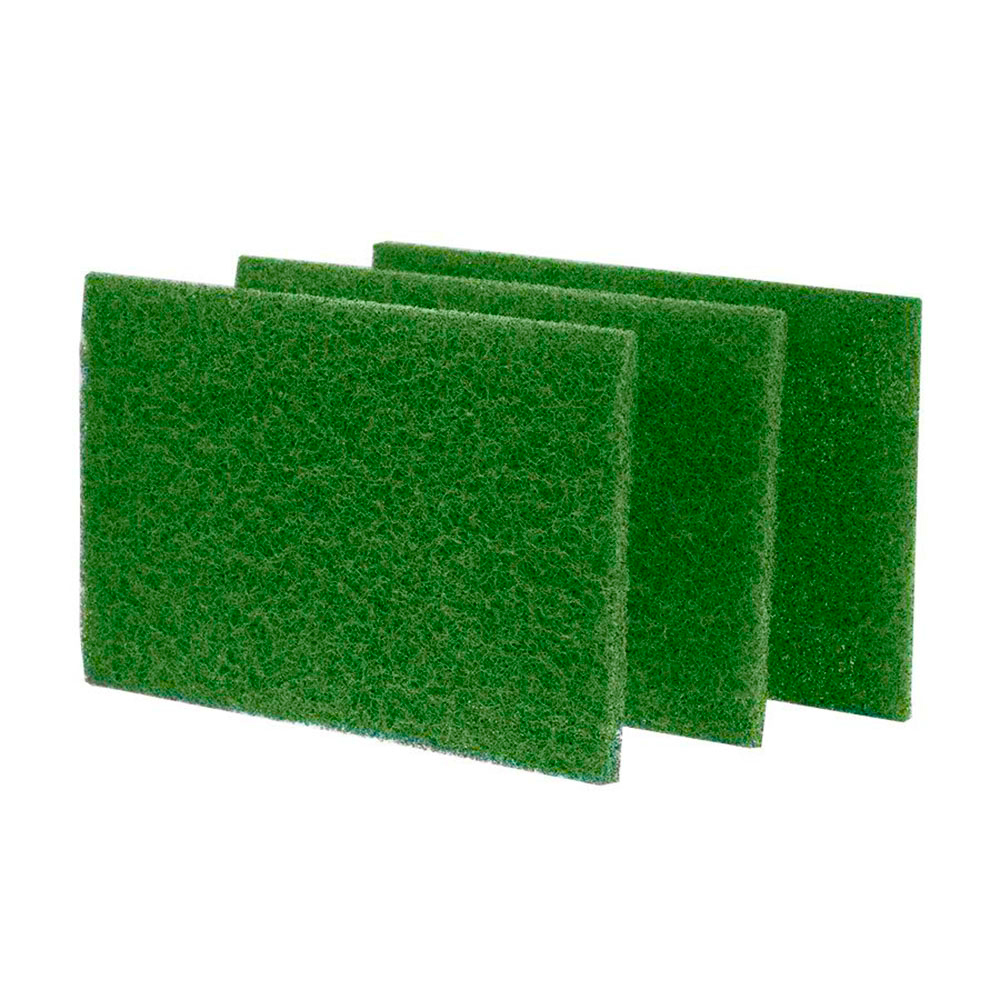 "Scrubble/ACS Ind. - Green 6""x9"" Heavy Duty Rectangular Scrub Hand Pads S86"