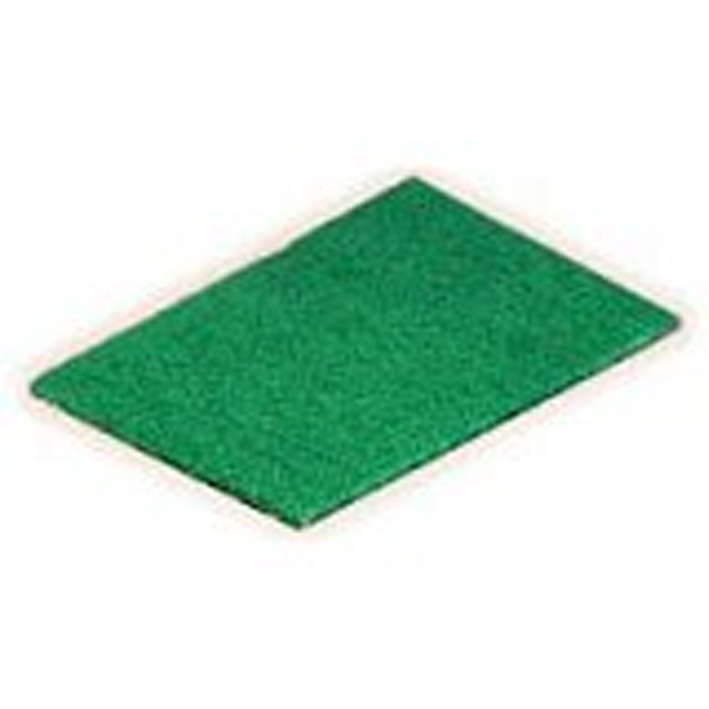 "Scrubble/ACS Ind. - Green 6""x9"" Medium Duty Nylon Scouring Pad SO96"