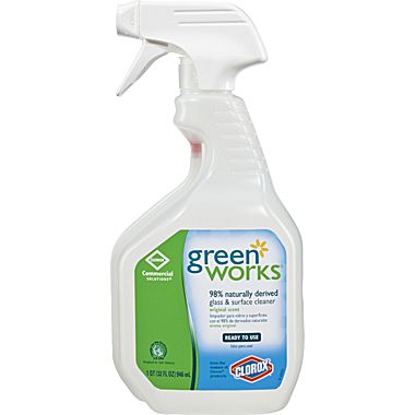 The Clorox Sales Company 32oz Green Works Glass   Surface Cleaner Commercial Solution Spray 004