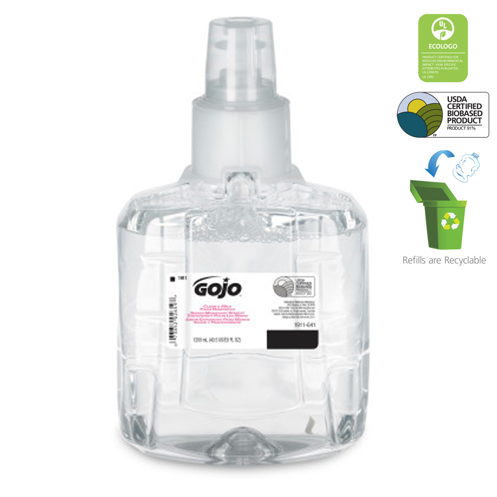 Gojo Ind. - Clear And Mild 1200 ml Foaming Hand   Wash Refill 1911-02
