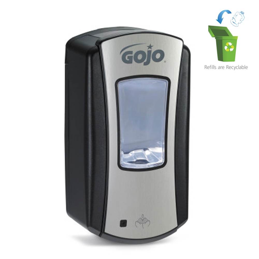 Gojo Black & Chrome Ltx-12 Touch Free Dispenser 1919-04