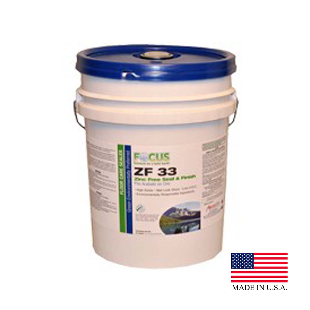 American Cleaning - Focus 5 Gallon Pail ZF 33 Zinc Free Floor Seal And Finish 2622