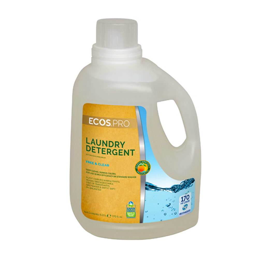 Earth Friendly 170oz Ecos Pro Manual Liquid Laundry Detergent Free And Clear PL9371/02