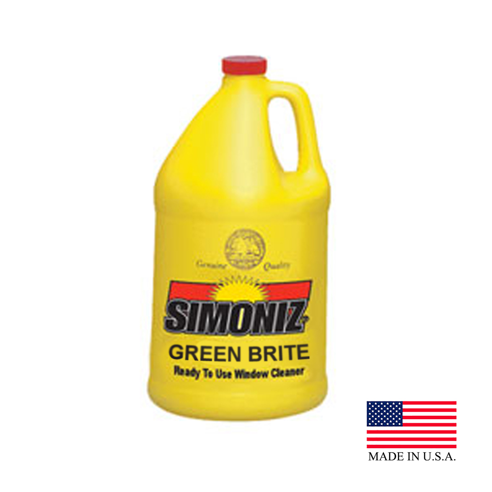 Simoniz 1 Gallon Green Brite Ready To Use Window Cleaner With Ammonia B0412004