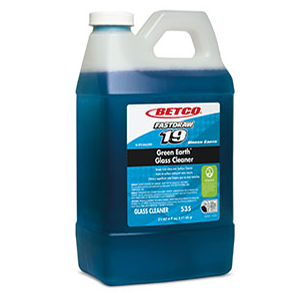 Betco Corp. - FastDraw 20 2 Liter Green Earth FastDraw Glass Cleaner 5354700