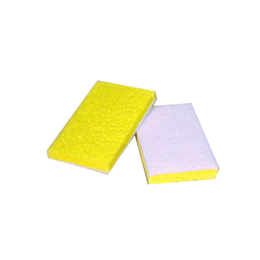 "Scrubble/ACS Ind. - Yellow And White 6-1/4"" X 3-1/4""X 5/8"" Scrub Sponge Fine 63-614"