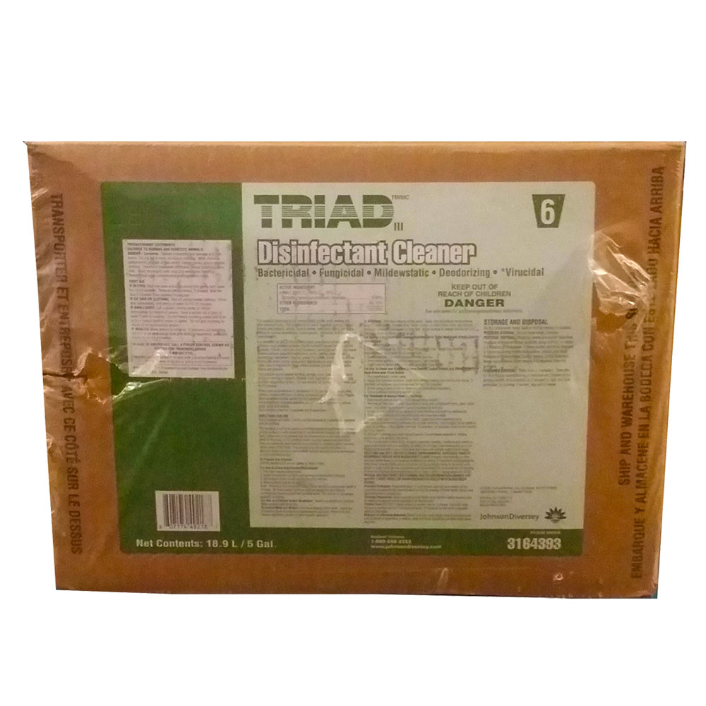 Diversey/SC Johnson 5 gallon Green Triad Disinfectant Cleaner 3164393