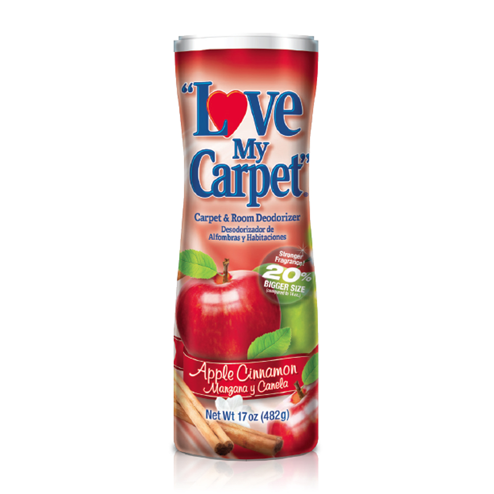 Love My Carpet 14 oz. Powdered Deodorizer Apple   Cinnamon Scent LMC739530