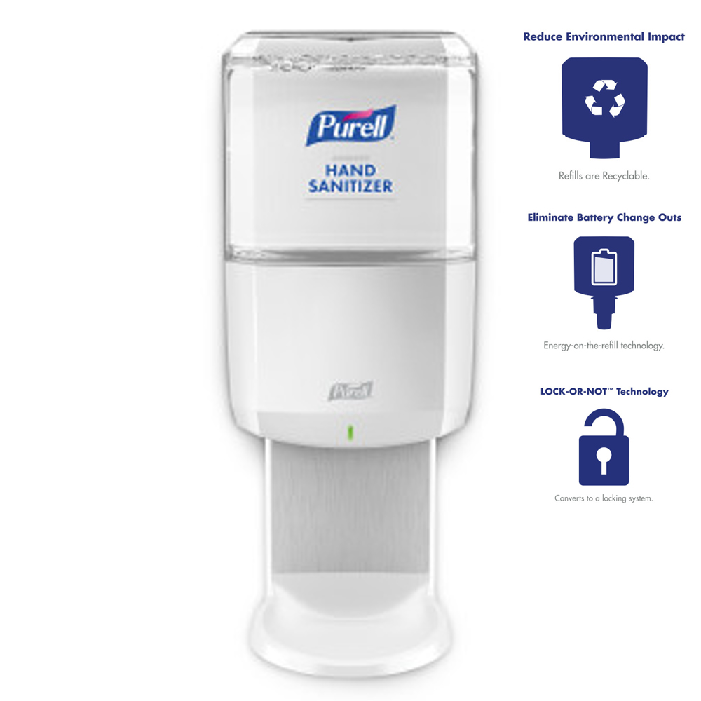 Gojo Purell White ES8 Hand Sanitizer Dispenser 7720-01