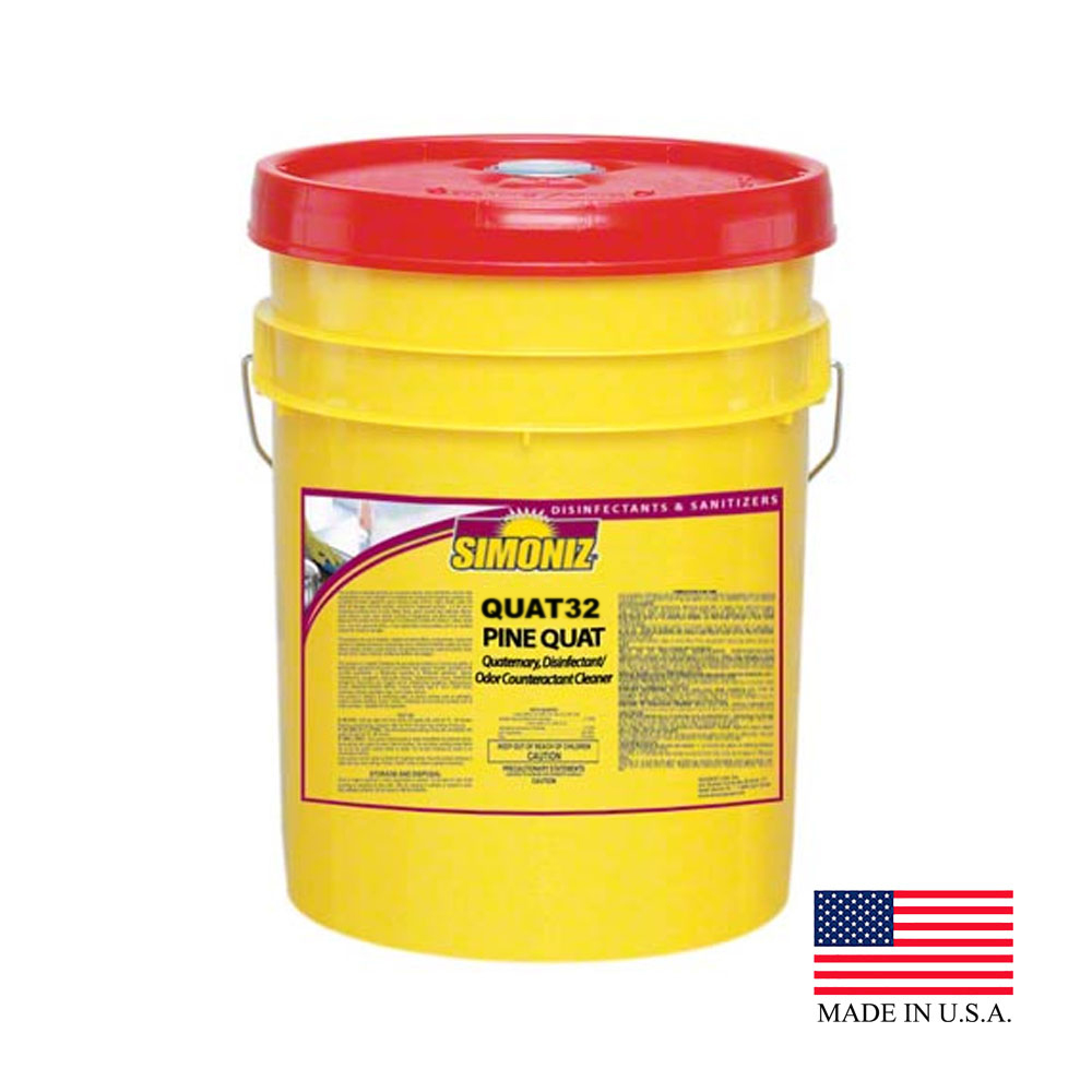 Simoniz 5 Gallon Quat32 Pine Disinfectant Odor Counteractant Cleaner (food Service) Q3013005