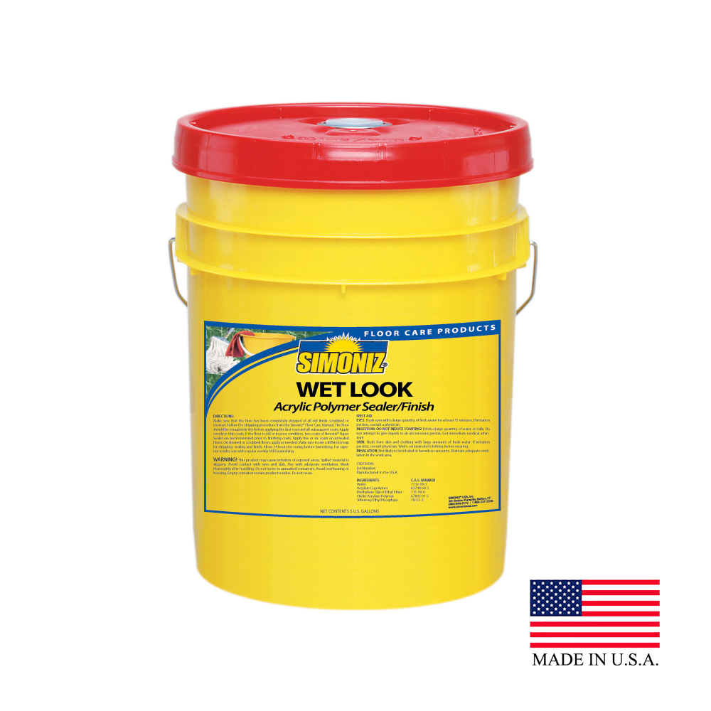 Simoniz 5 Gallon Pail Wet Look Acrylic Floor Sealer and Finish CS0740005