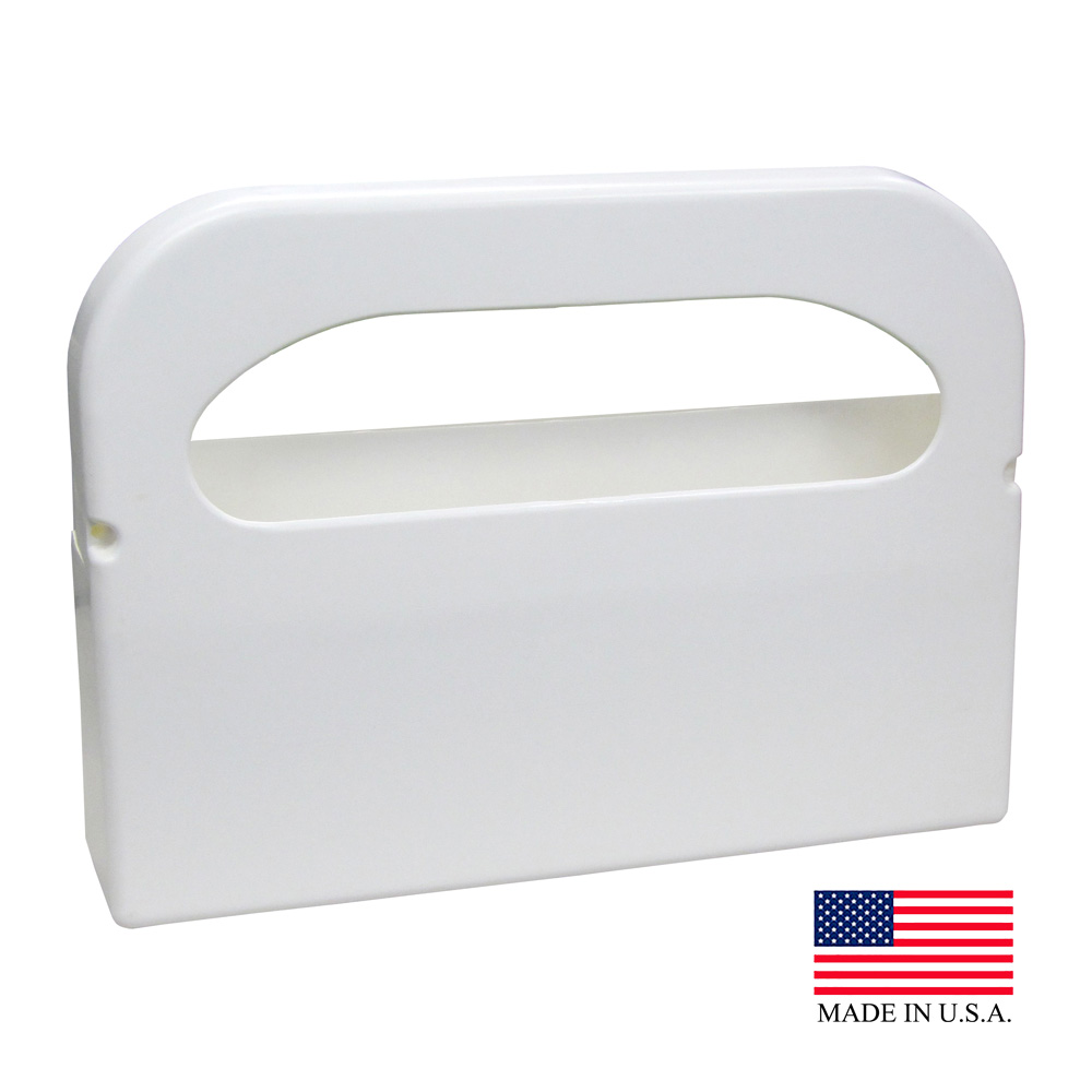 Hospeco White 1/2 Fold Health Gards Toilet Seat Cover Dispenser HG-1-2