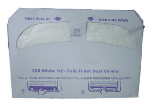 Nittany Paper 1/2 Folded Seat Cover NP-TSCR20250