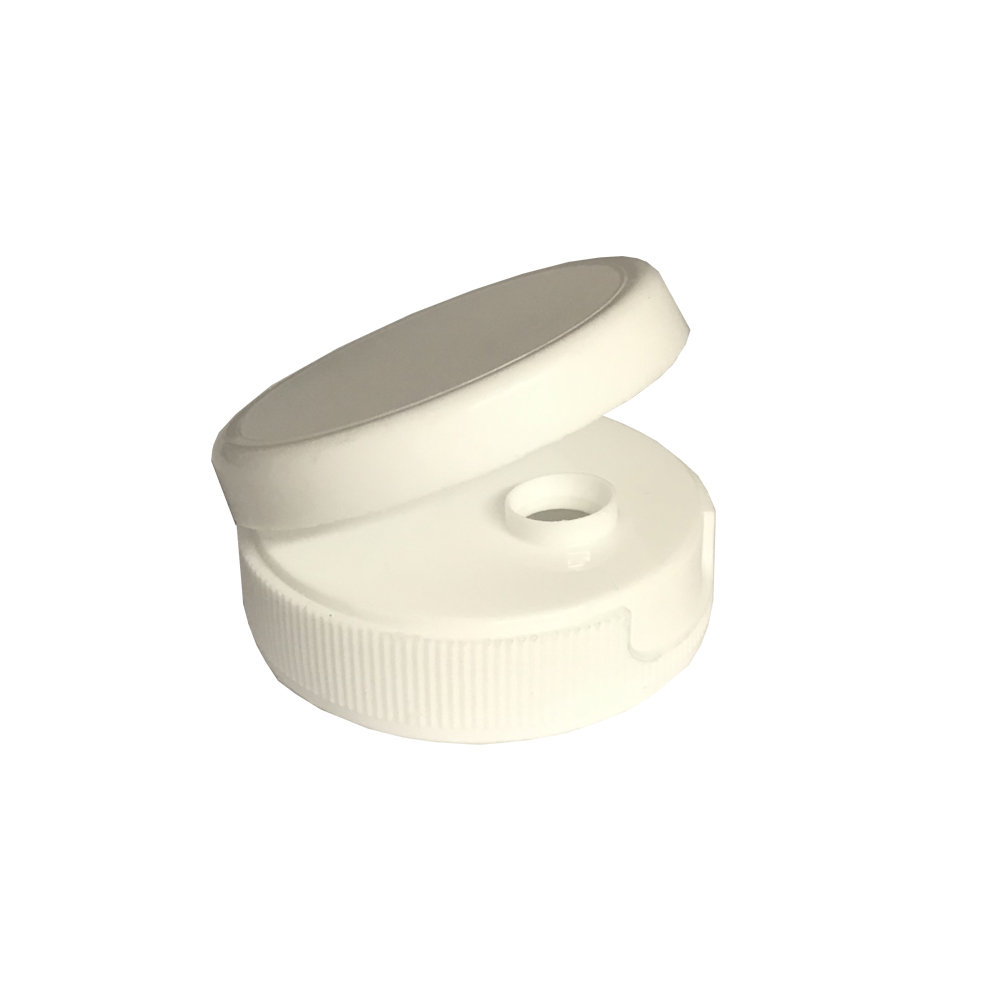 White Round Hinge Top For 200TC Squeeze Bottles   970200