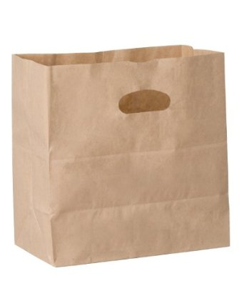 "Duro Bag Mfg. - Kraft 11""x6""x1"" Shopping Bag with Die Cut Handle 84245"