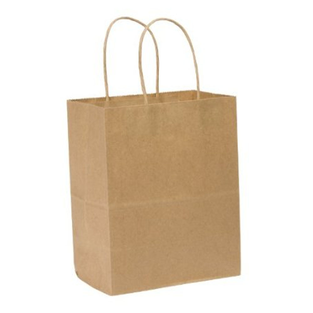 "Duro Bag Kraft 8""x4.5""x10.25"" Tempo Paper Shopper 87097"
