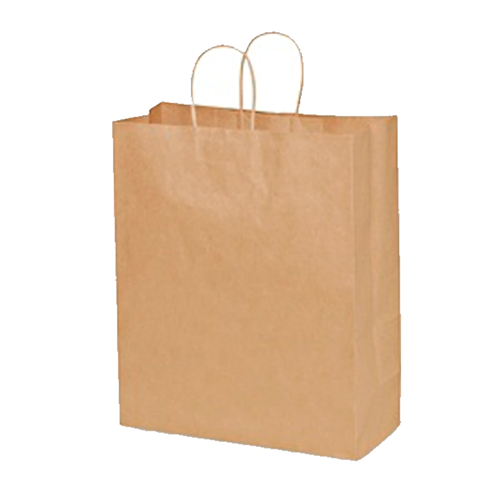 "Duro Bag Mfg. - Kraft 13""x6""x15.75"" Paper Traveler Shopping Bag 87127"