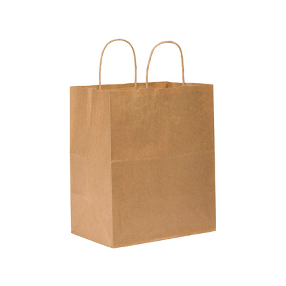 "Duro Bag Mfg. - Kraft 10""x6.75""x12"" Paper Bistro Shopping Bag 87490"