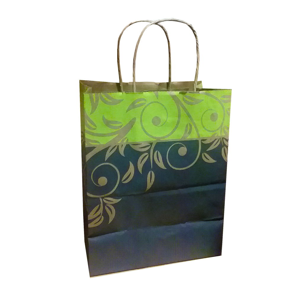 "Mac Paper Supply Inc. - Antigua Celery 8""x4""x10"" Paper Petit Shopping Bag ANTIGUA"