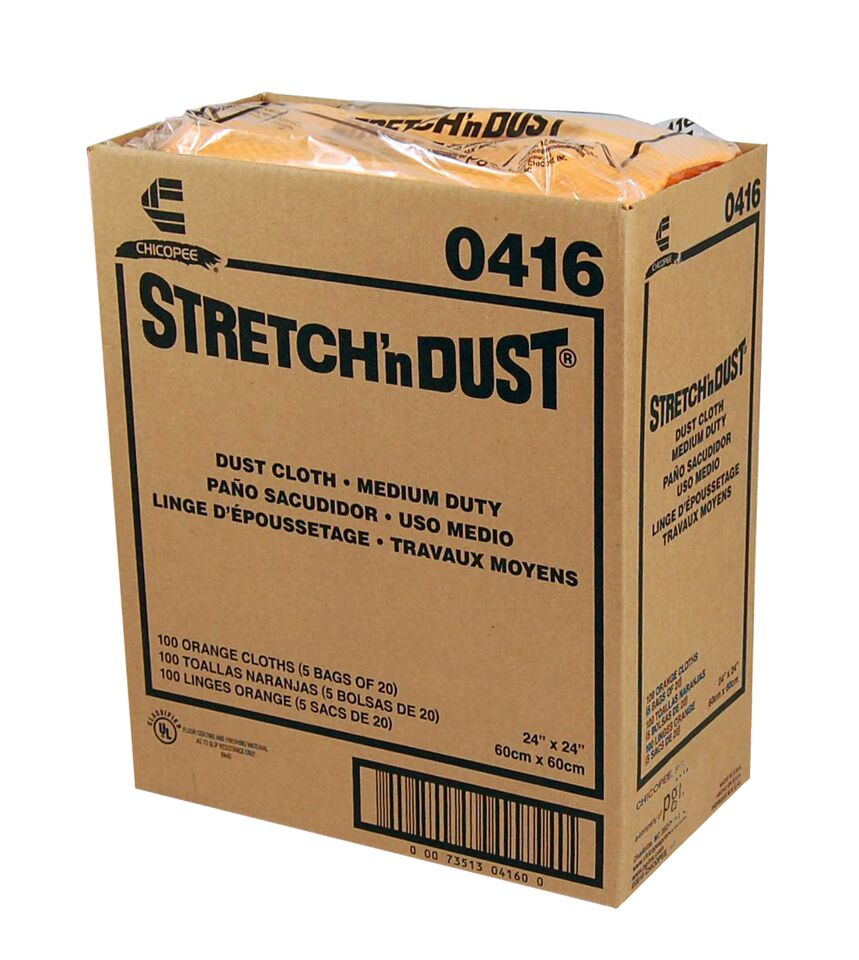 "Chicopee Orange 23.25""x24"" Stretch N' Dust Cloth 0416"