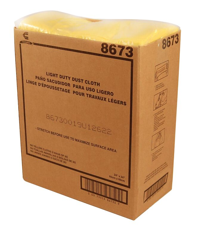 "Chicopee Yellow 22""x24"" Masslinn Light Duty Dust Cloth 8673"