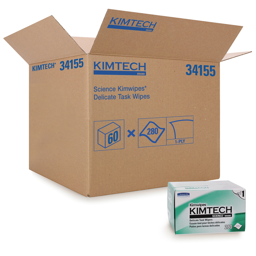 "Kimberly Clark White 4.4""x8.4"" Kim Wipes Delicate Task Wipes 34155"