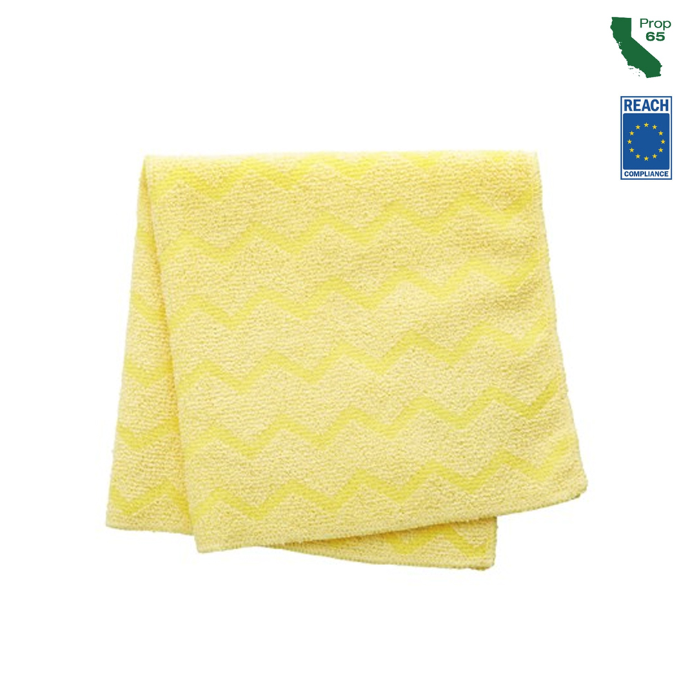 "Rubbermaid Yellow 16"" Microfiber Bathroom Cloth FGQ61000YL00 - FGQ61000YL00  MICRO BATH CLOTH"