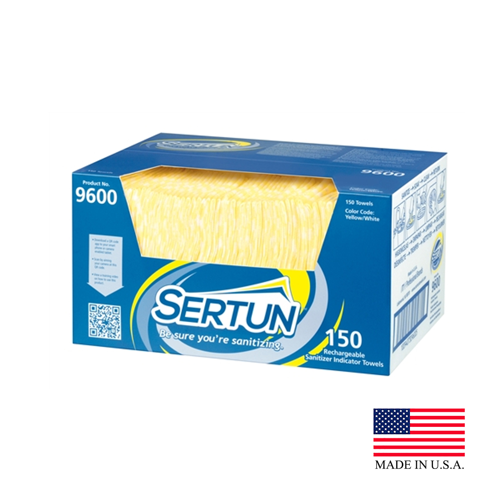 "ITW Pro Brands - Sertun 13.50""x18"" 150 Sheet Rectangular Rechargeable Sanitizer Indicator Towel"