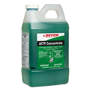 Betco Green 2 Liter AF79 Concentrate Acid Free Bathroom Cleaner 3314700