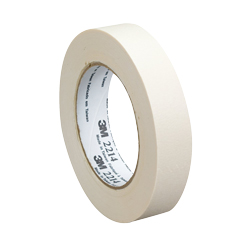 3M Products White 48mm x 55m Paper Masking Tape 2214