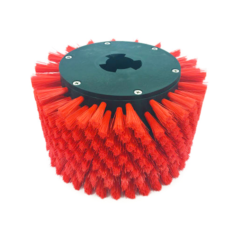 "Motor Scrubber USA Inc. - Red 8.5"" Stair &        Baseboard Riser Brush MS1049"
