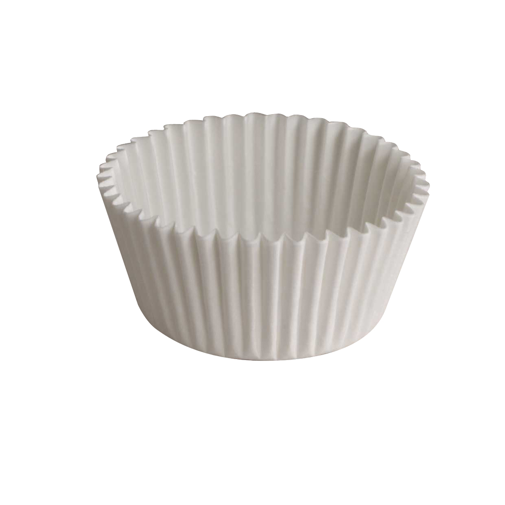 "Hoffmaster White 3.5"" Fluted Baking Cup 610011"