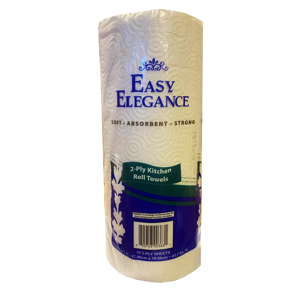 Easy Elegance White 70 Sheet Kitchen Roll Towel 58407