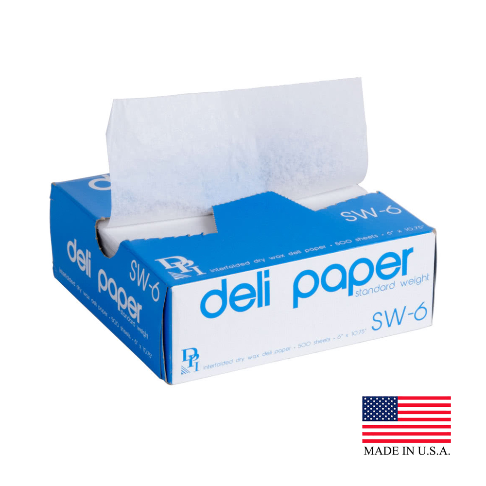 "Durable 6""x10.75"" Delicatessen Wax Sheet SW-6"