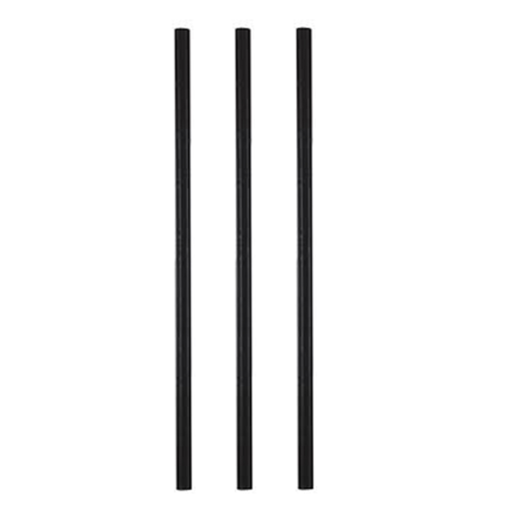 "Hoffmaster - Black 5.5"" Unwrapped Paper Cocktail  Straw 600250"