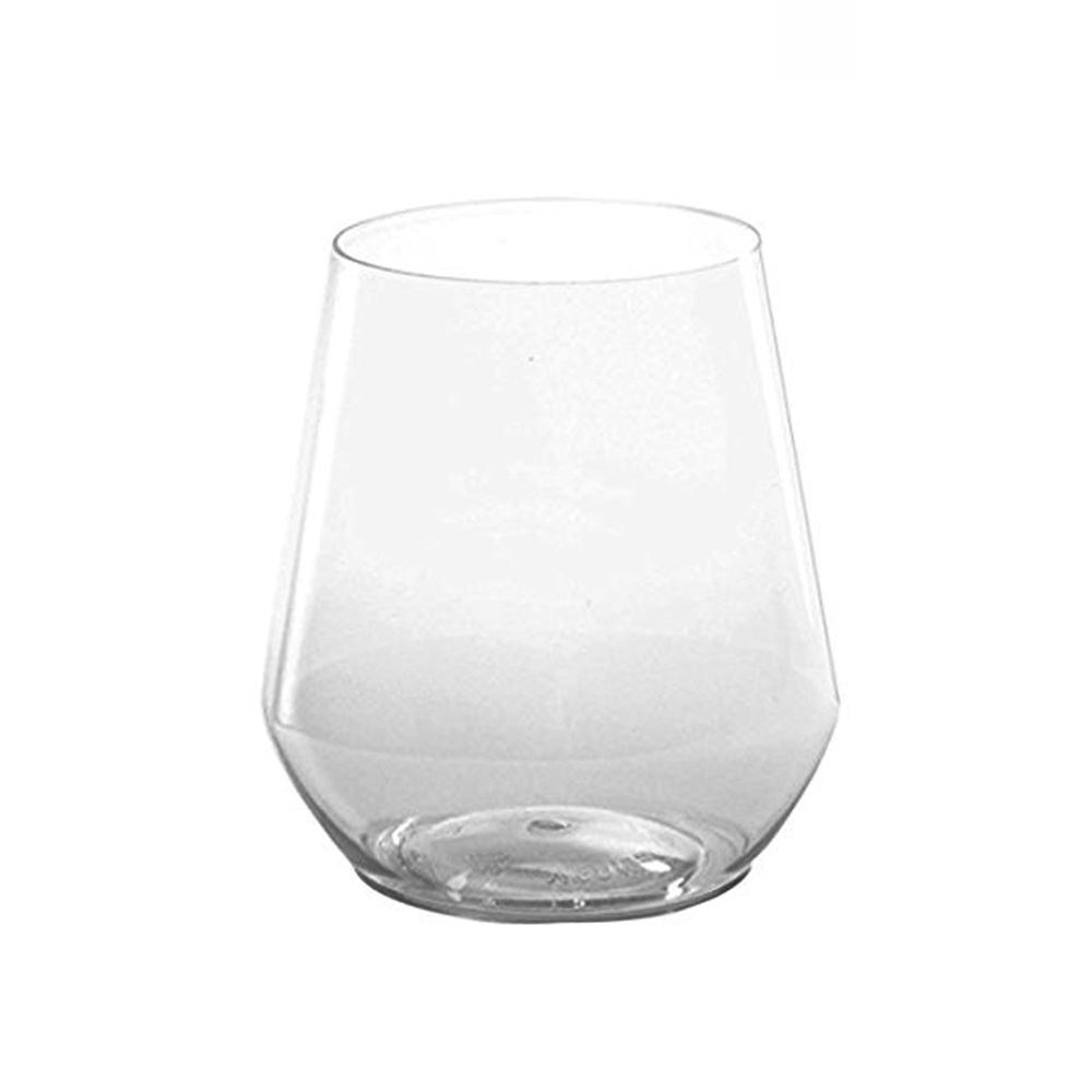 WNA/Comet - Reserv Clear 12 oz. Plastic Wrapped   Stemless Wine Goblet WRESSGL12