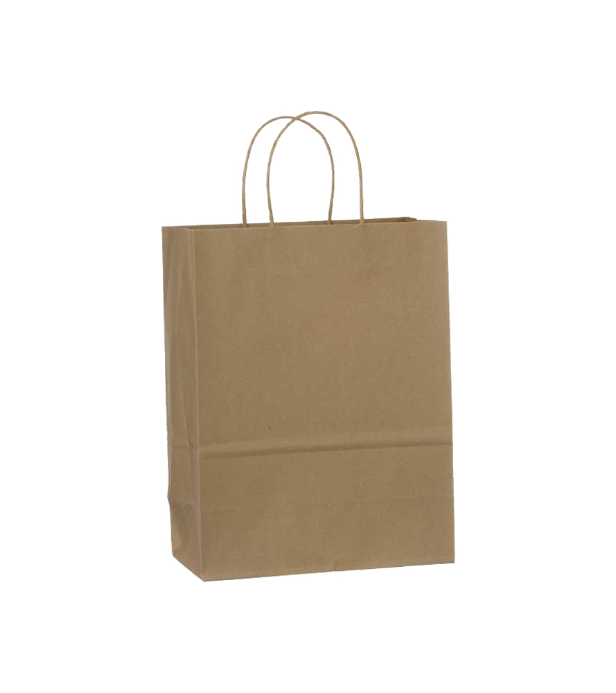 "Conco Paper Bags Kraft 13""x6""x16"" Paper Shopping  Bag (Traveler) Size 13166K"