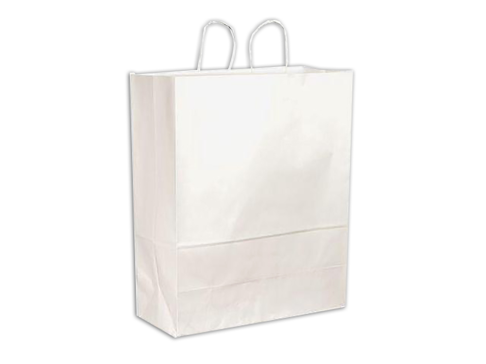 "Conco Paper Bags White 18""x7""x19"" Paper Shopping  Bag (Cargo) Size 18197W"
