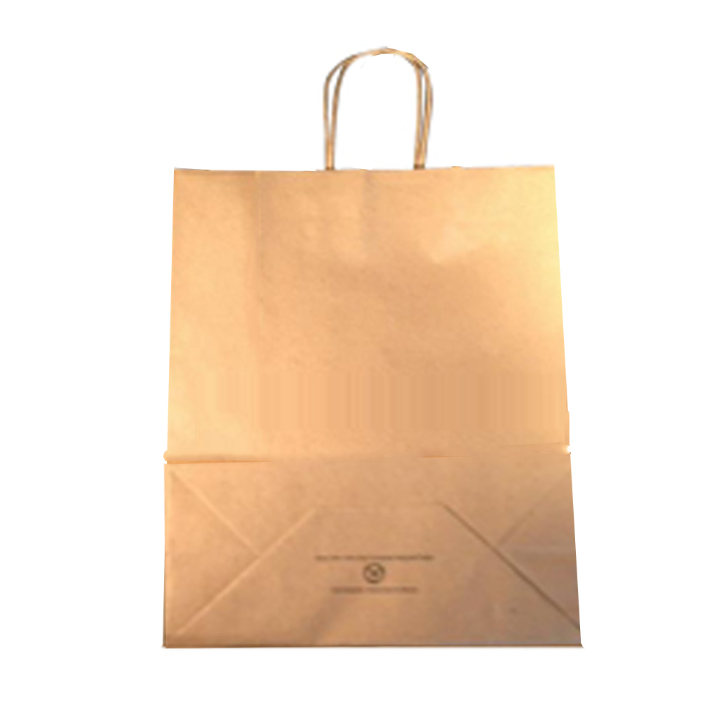"Duro Bag Mfg. - Kraft 18""x7""x18.75"" Paper Cargo Shopping Bag 87148"