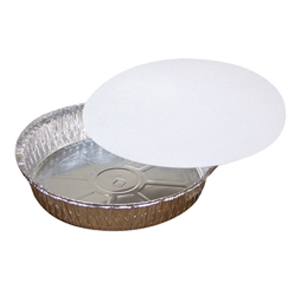 Pactiv Aluminum 9 Round Pan And Laminated Board Lid 509TPZ