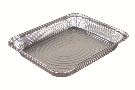 Pactiv - Aluminum 1/2 Size Shallow Oblong Steam Table Pan Y6012XH