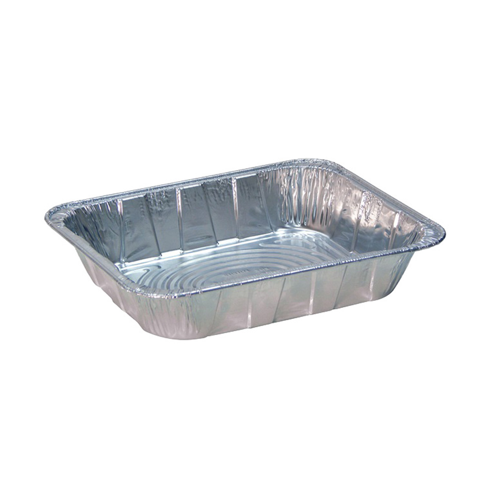 Pactiv - Aluminum 1/2 Size Deep Oblong Steam Table Pan Y6132L