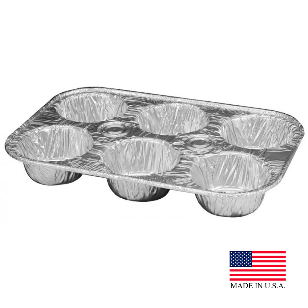 Durable Aluminum 6 Cup Muffin Pan 1500-30