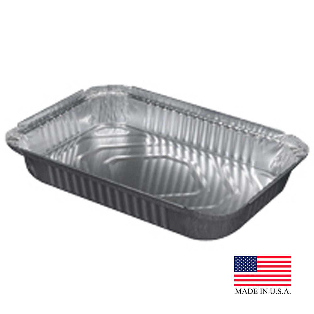 Durable Aluminum 4lb Closeable Oblong Container 240-45-250