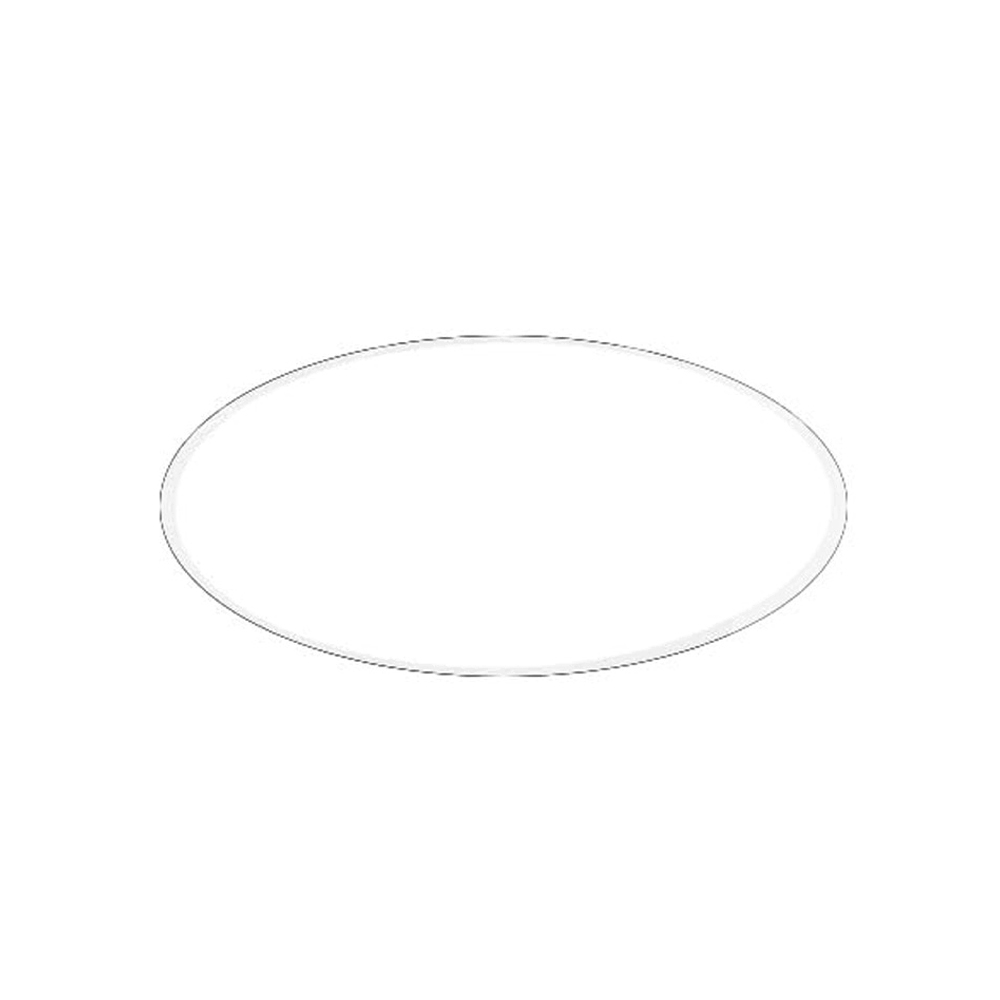"Pactiv White Board Lid For 8"" Round Container L558S"