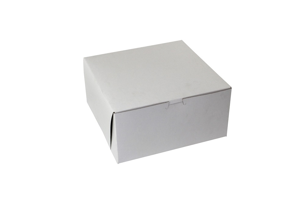 "Boxit Corp White 10""x10""x5"" 2 Pack One Piece Bake ry Box With Corner Lock 10105B/DP2-261"