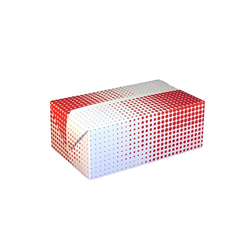 "Specialty Quality Red Plaid 7""x5""x2.5"" Fast Top Chicken Take Out Box 3512"