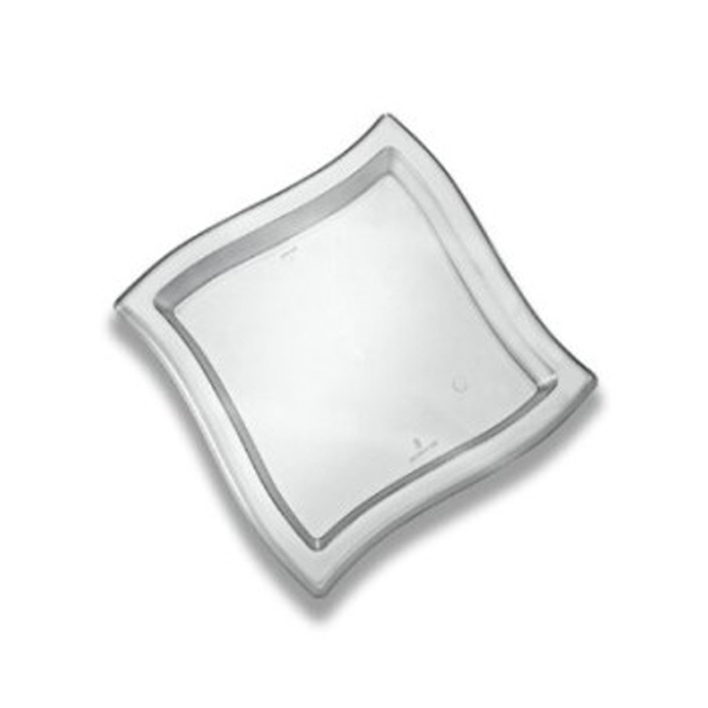 "EMI Yoshi Inc. - Waves Clear 14""x14"" Plastic Square Tray EMI-WT1414C"