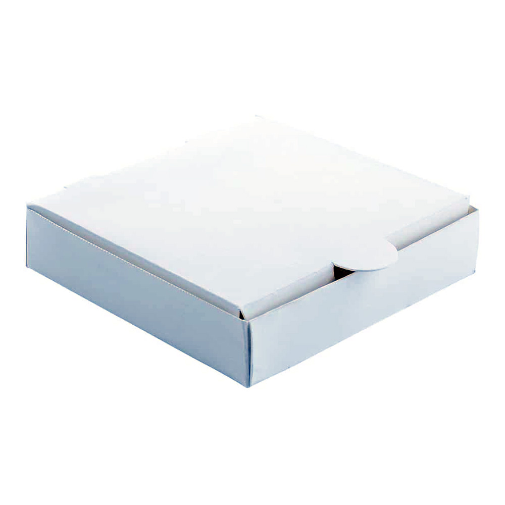 "White 6""x6"" Mini Square Pizza Box 4149"