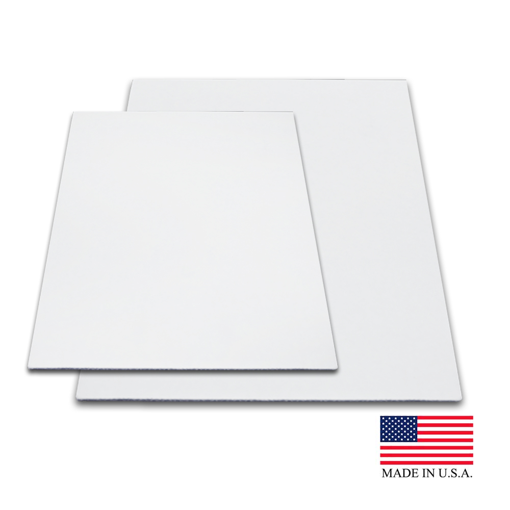 "Die Cut Prod. - White 14""x10"" Corrugated Rectangular Top Cake Pad 14X10"
